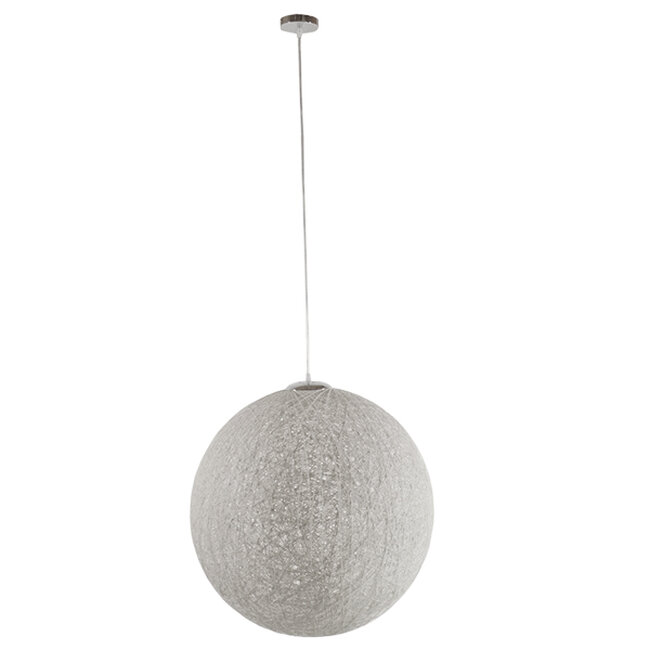 Vintage Κρεμαστό Φωτιστικό Οροφής Μονόφωτο Λευκό Ξύλινο Ψάθινο Rattan Φ60  KETTLE 01363 - 2