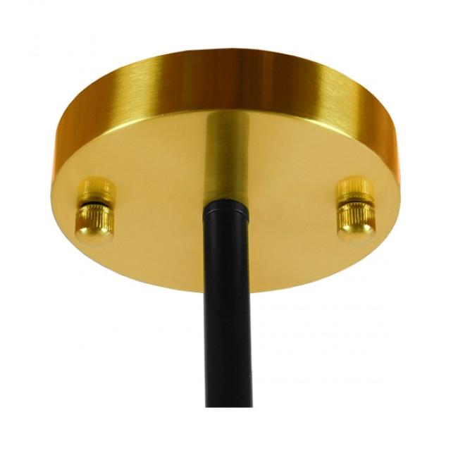 Vintage Industrial Φωτιστικό Οροφής Πολύφωτο Μαύρο Χρυσό Μεταλλικό Πολυέλαιος με Γυάλινες Μπάλες Λευκό Ματ GloboStar STARDUST 01649 - 10