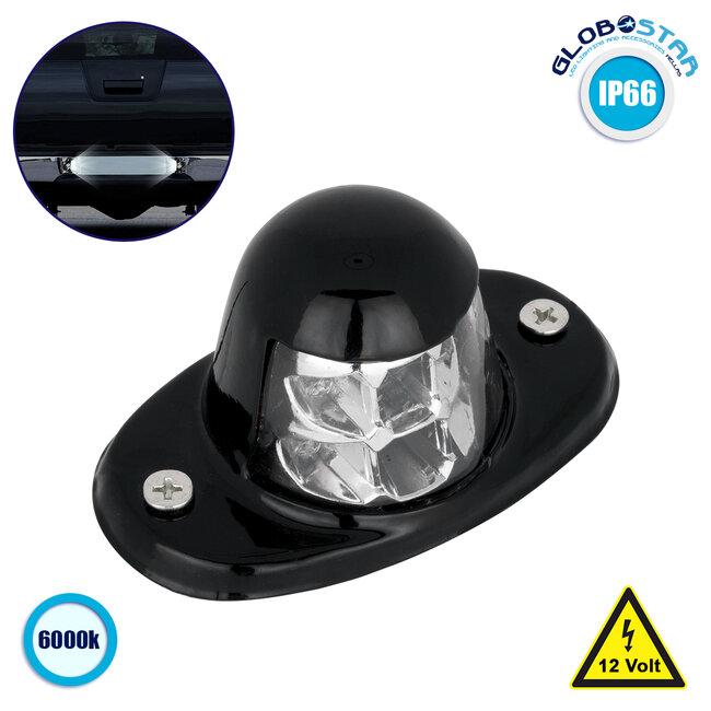 79910 Φώτα Πινακίδας Αυτοκινήτου LED BULLET Αδιάβροχο IP66 6 SMD 3W 12V Ψυχρό Λευκό 6000K