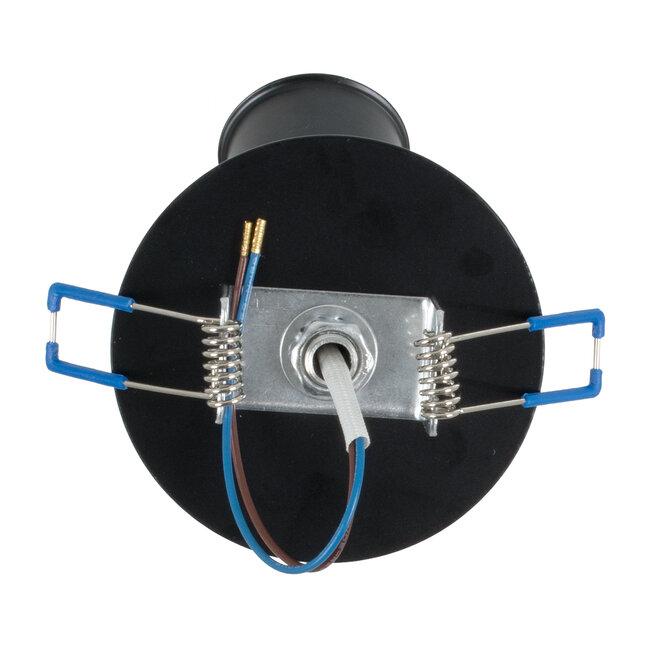 SARA 00849 Μοντέρνο Χωνευτό Φωτιστικό Οροφής / Τοίχου Μονόφωτο 1xE27 Μεταλλικό Μαύρο Φ8 x Υ8.5cm - 5