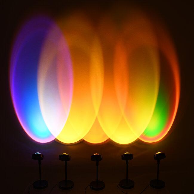 GloboStar® 00815 Μοντέρνο Επιτραπέζιο Φωτιστικό Μονόφωτο Μεταλλικό LED 12W DC 5V Rotation 180° SUNSET RED - 5