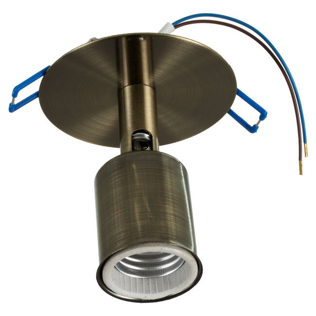 SARA 00853 Μοντέρνο Χωνευτό Φωτιστικό Οροφής / Τοίχου Μονόφωτο 1xE27 Μεταλλικό Μεταλλικό Μπρούτζινο Φ8 x Υ8.5cm - 4