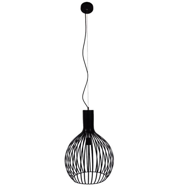 Μοντέρνο Κρεμαστό Φωτιστικό Οροφής Μονόφωτο Μαύρο Μεταλλικό Καμπάνα Φ38  GOBLET DARK 01266 - 2