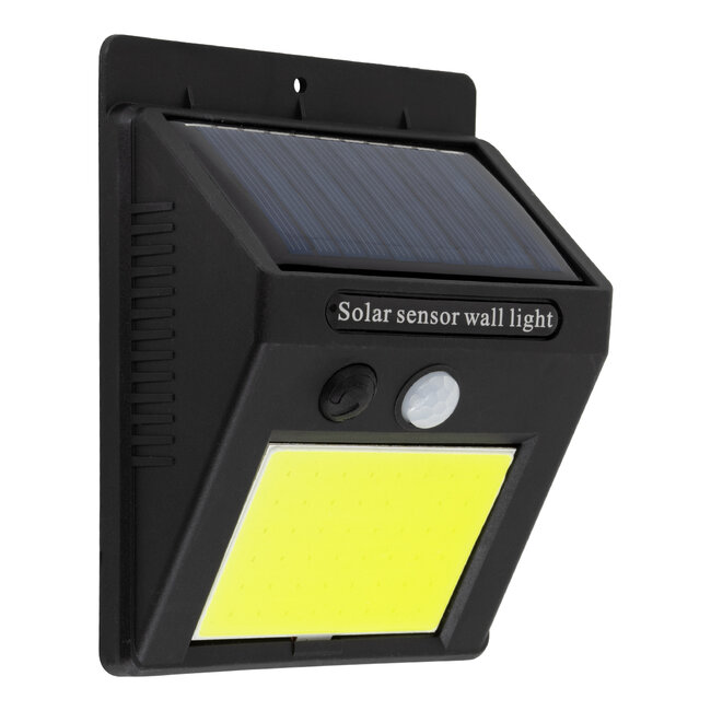 71495 Αυτόνομο Ηλιακό Φωτιστικό LED COB 10W 1000lm με Ενσωματωμένη Μπαταρία 1200mAh - Φωτοβολταϊκό Πάνελ με Αισθητήρα Ημέρας-Νύχτας και PIR Αισθητήρα Κίνησης IP65 Ψυχρό Λευκό 6000K - 2