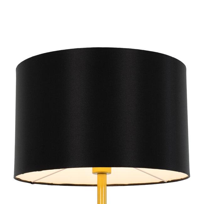 ASHLEY 00825 Μοντέρνο Φωτιστικό Δαπέδου Μονόφωτο Μεταλλικό Χρυσό με Μαύρο Καπέλο Φ40 x Υ148cm - 4