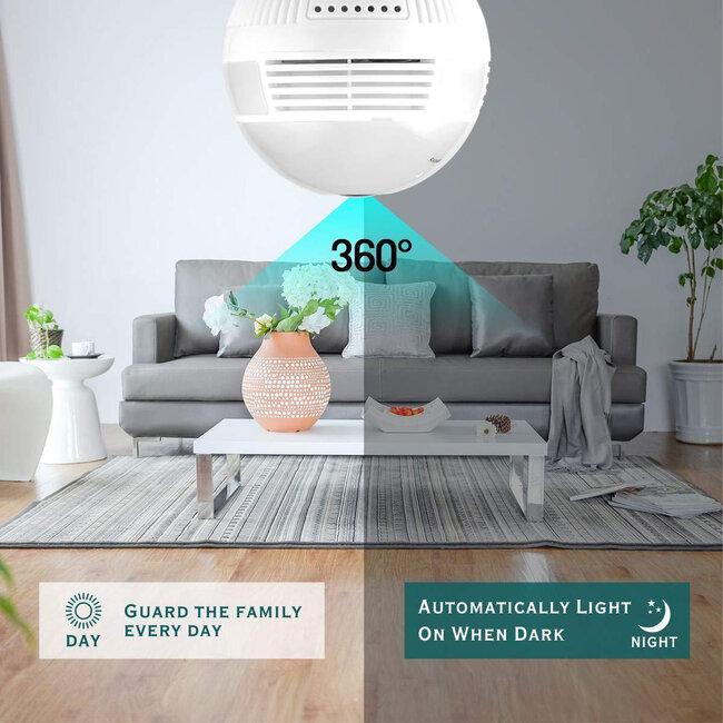 76073 WIFI 2.4G IP CAMERA 2.0MP 1080P - Έξυπνη Κρυφή IP Κάμερα WiFi 1080P Fish Eye 360° 3W LED σε Σχήμα Λάμπας με Ντουί και Βάση E27 Smart Home - 7