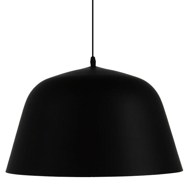 Μοντέρνο Κρεμαστό Φωτιστικό Οροφής Μονόφωτο Μαύρο Μεταλλικό Καμπάνα Φ40  EASTVALE 01281 - 3