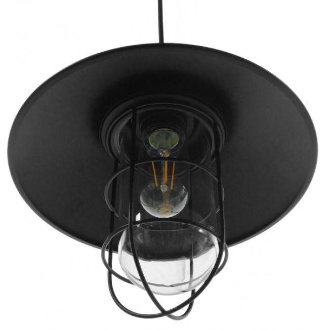 Vintage Industrial Κρεμαστό Φωτιστικό Οροφής Μονόφωτο Μαύρο Μεταλλικό Καμπάνα Φ27 GloboStar SKIPPER 01034 - 7