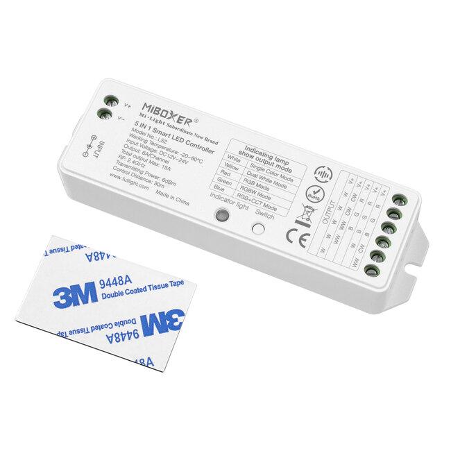 GloboStar® 73422 Ασύρματος RF 2.4Ghz LED RGBW + WW Smart Controller Mi-Light LS2 MiBOXER RF 2.4G DC 12-24V Max 360W - 3