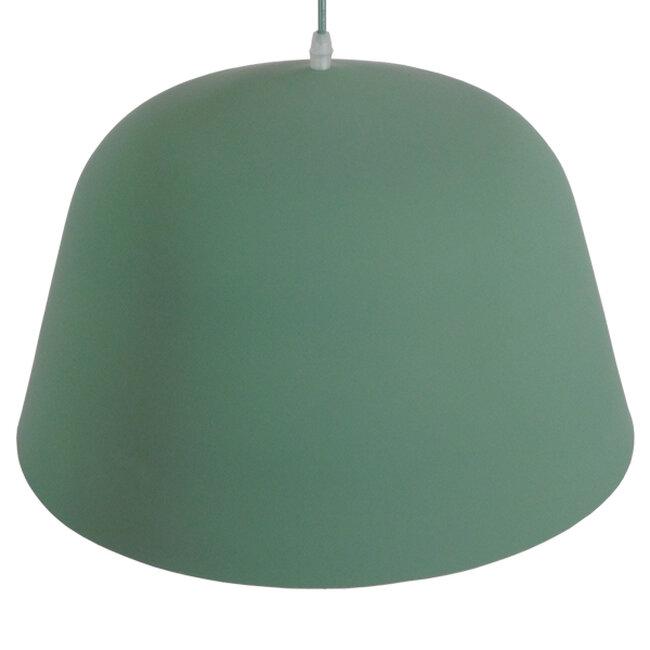 Μοντέρνο Κρεμαστό Φωτιστικό Οροφής Μονόφωτο Γκρι Πράσινο Μεταλλικό Καμπάνα Φ40  UPVALE 01285 - 6
