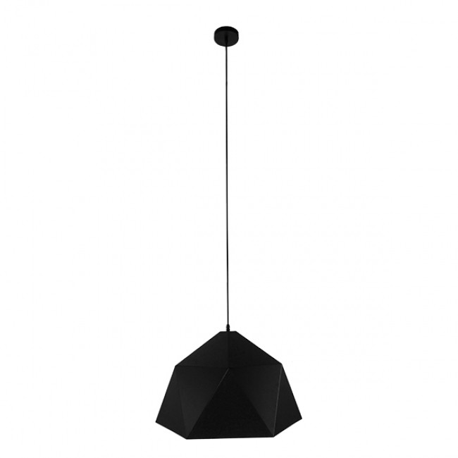 Μοντέρνο Κρεμαστό Φωτιστικό Οροφής Μονόφωτο Μαύρο Χρυσό Μεταλλικό Καμπάνα Φ46  SYLRA 01195 - 2