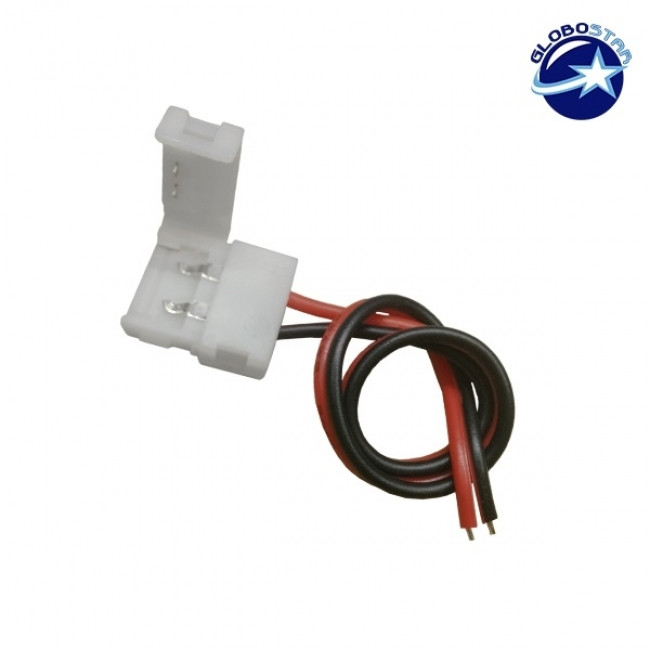 Μονός Connector 10mm 15cm Για Ταινία LED 7.2 & 14.4 Watt GloboStar 81550