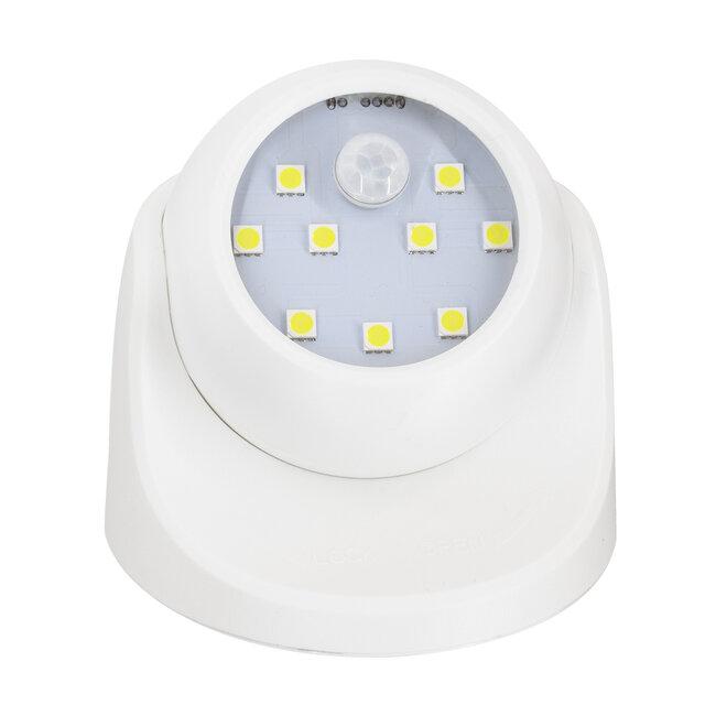 79000 Λευκό Φωτιστικό Μπαταρίας σε Σχήμα Κάμερας LED SMD 3W 300lm με Αισθητήρα Ημέρας-Νύχτας και PIR Αισθητήρα Κίνησης Ψυχρό Λευκό 6000K - 4