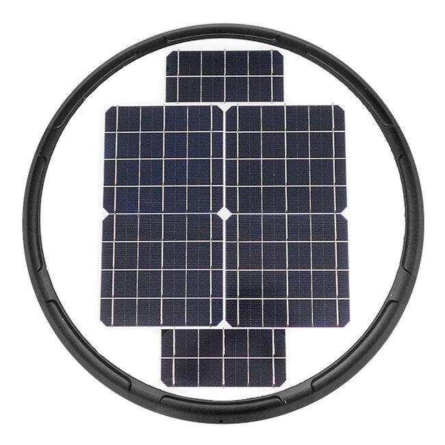Αυτόνομο Αδιάβροχο IP65 Ηλιακό Φωτοβολταϊκό Φωτιστικό Στύλου / Κολώνας Πλατείας LED 25W με Ανιχνευτή Κίνησης και Αισθητήρα Νυχτός Θερμό Λευκό 3000k GloboStar 12151 - 5