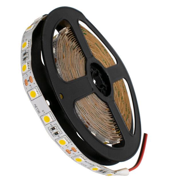 GloboStar® 70022 Ταινία LED SMD 5050 5m 14.4W/m 60LED/m 1584 lm/m 120° DC 12V IP20 Θερμό Λευκό 3000K - 5 Χρόνια Εγγύηση - 2