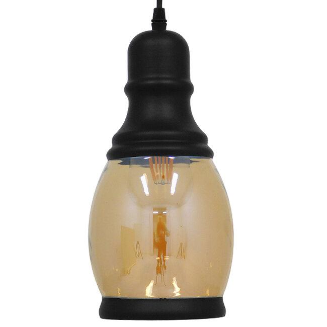 Vintage Κρεμαστό Φωτιστικό Οροφής Μονόφωτο Γυάλινο Μελί Διάφανο Φ14  JACK 01507 - 5