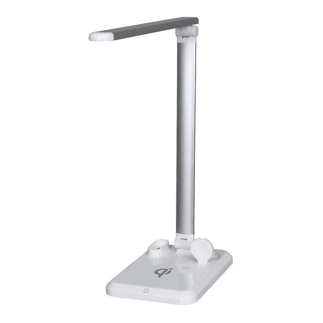86101 CHATEAU Μοντέρνο Φωτιστικό Γραφείου Λευκό LED 10 Watt 1000lm DC 5V Αφής & Καλώδιο Τροφοδοσίας USB με Ασύρματη Φόρτιση - Wireless Charger για Τηλέφωνα και Earphones Φυσικό Λευκό 4500K - 3