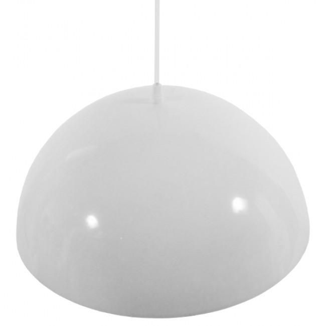 Μοντέρνο Κρεμαστό Φωτιστικό Οροφής Μονόφωτο Λευκό Χρυσό Μεταλλικό Καμπάνα Φ40  LUNE 01339 - 6