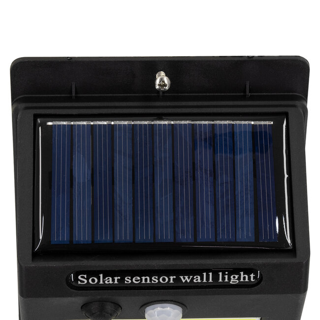 71495 Αυτόνομο Ηλιακό Φωτιστικό LED COB 10W 1000lm με Ενσωματωμένη Μπαταρία 1200mAh - Φωτοβολταϊκό Πάνελ με Αισθητήρα Ημέρας-Νύχτας και PIR Αισθητήρα Κίνησης IP65 Ψυχρό Λευκό 6000K - 9