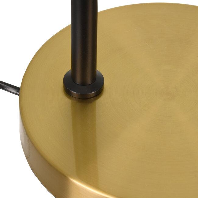 LETO 00835 Μοντέρνο Επιτραπέζιο Φωτιστικό Γραφείου Μονόφωτο Μεταλλικό Μαύρο Χρυσό Φ12.5 x Μ18 x Π18 x Υ50.5cm - 8