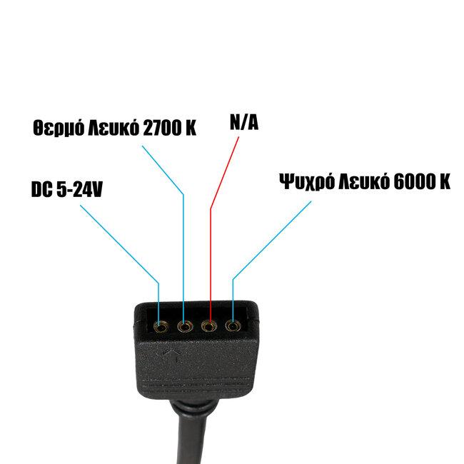 73356 Ασύρματο LED CCT Controller με Χειριστήριο RF 2.4Ghz DC 5-24V Max 144W - 3