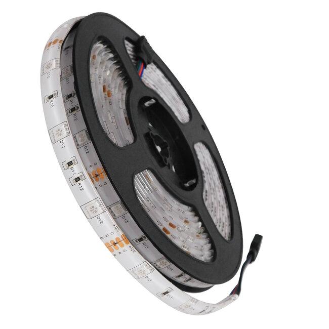 GloboStar® 70119 Ταινία LED SMD 5050 5m 7.2W/m 30LED/m 727 lm/m 120° DC 12V Αδιάβροχη IP65 RGB - 5 Χρόνια Εγγύηση - 2