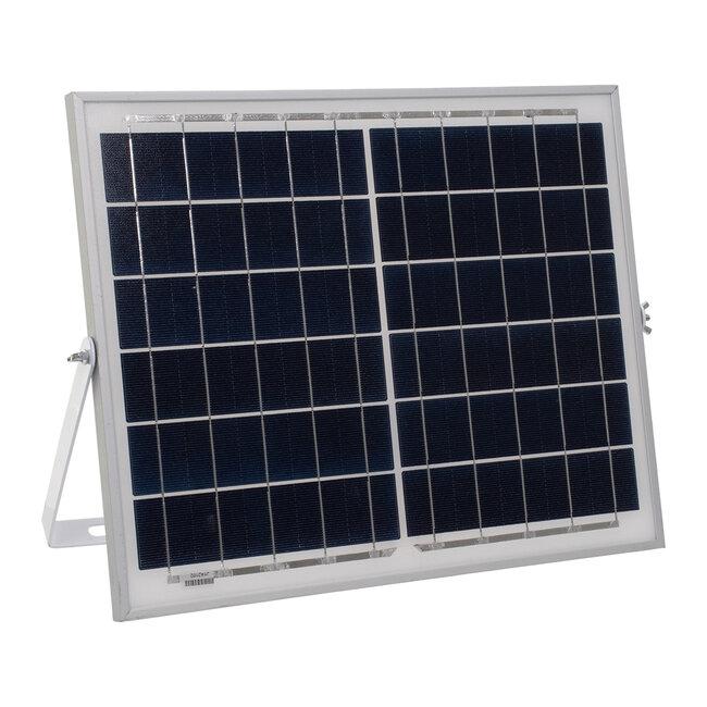 71555 Αυτόνομος Ηλιακός Προβολέας LED SMD 40W 3200lm με Ενσωματωμένη Μπαταρία 5000mAh - Φωτοβολταϊκό Πάνελ με Αισθητήρα Ημέρας-Νύχτας και Ασύρματο Χειριστήριο RF 2.4Ghz Αδιάβροχος IP66 Ψυχρό Λευκό 6000K - 7