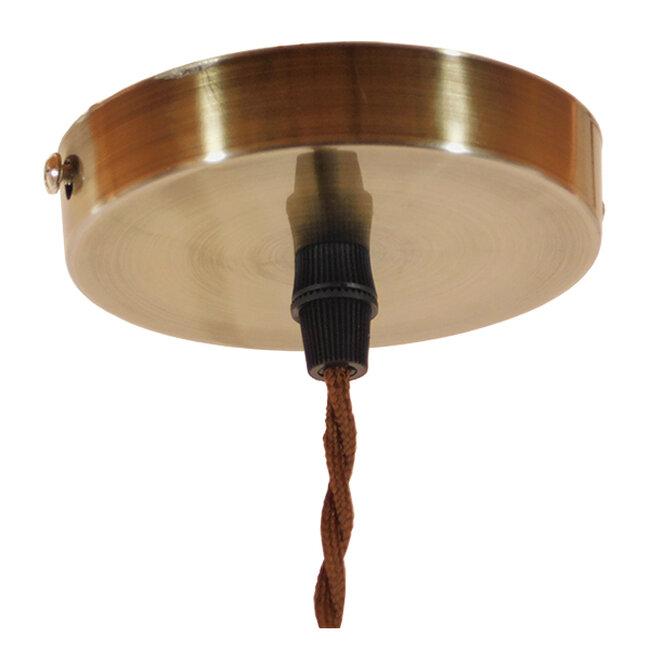 Vintage Industrial Κρεμαστό Φωτιστικό Οροφής Μονόφωτο Καφέ Σκουριά Μεταλλικό Πλέγμα Φ10  FLOWER IRON RUST 01180 - 7