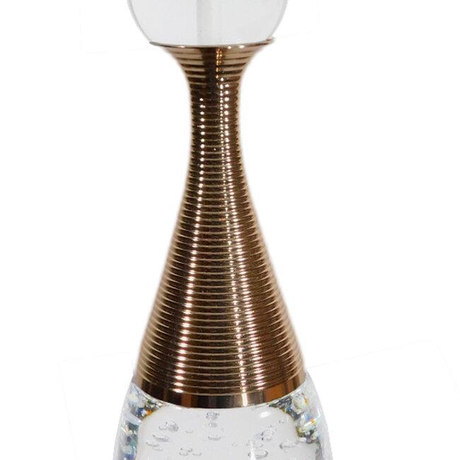 Μοντέρνο Κρεμαστό Φωτιστικό Οροφής Μονόφωτο LED Χάλκινο με Φυσητό Γυαλί  JADORE 01232 - 6