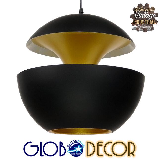 Μοντέρνο Κρεμαστό Φωτιστικό Οροφής Μονόφωτο Μαύρο Μεταλλικό Φ35  SEVILLE BLACK 01269 - 1