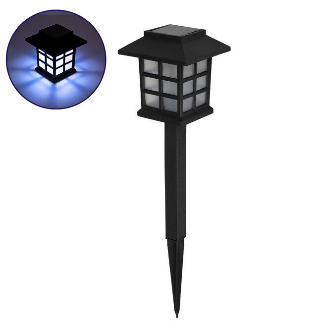 GloboStar® 71523 Αυτόνομο Ηλιακό Φωτιστικό LED SMD 1W 100lm με Ενσωματωμένη Μπαταρία 300mAh - Φωτοβολταϊκό Πάνελ με Αισθητήρα Ημέρας-Νύχτας IP65 Φανάρι Κήπου Ψυχρό Λευκό 6000K - 2