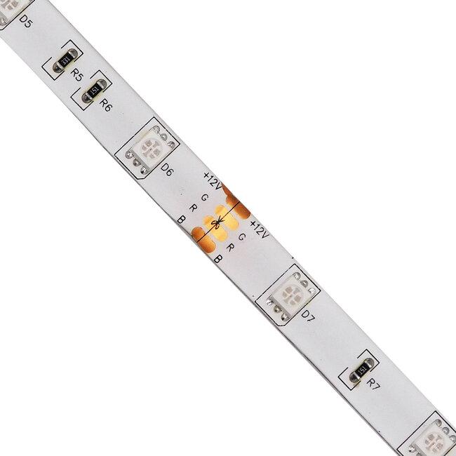 GloboStar® 70119 Ταινία LED SMD 5050 5m 7.2W/m 30LED/m 727 lm/m 120° DC 12V Αδιάβροχη IP65 RGB - 5 Χρόνια Εγγύηση - 3