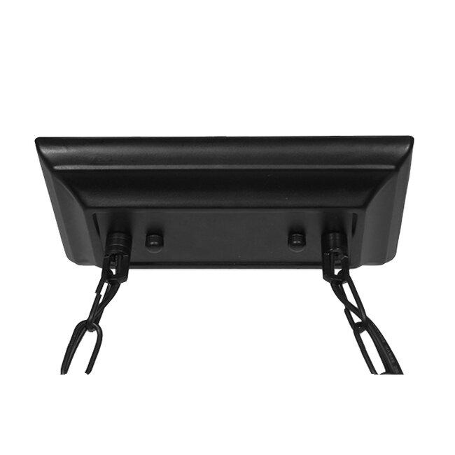 Vintage Industrial Κρεμαστό Φωτιστικό Οροφής Τρίφωτο Mαύρο Μεταλλικό  BILLIARD 01280 - 12