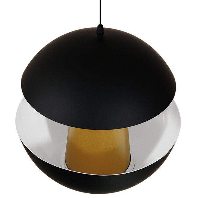 Μοντέρνο Κρεμαστό Φωτιστικό Οροφής Μονόφωτο Μαύρο Μεταλλικό Φ35  SEVILLE BLACK 01269 - 5
