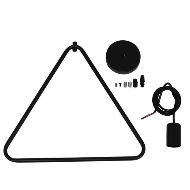 Μοντέρνο Κρεμαστό Φωτιστικό Οροφής Μονόφωτο Μαύρο Μεταλλικό GloboStar DELTA BLACK 01580 - 8