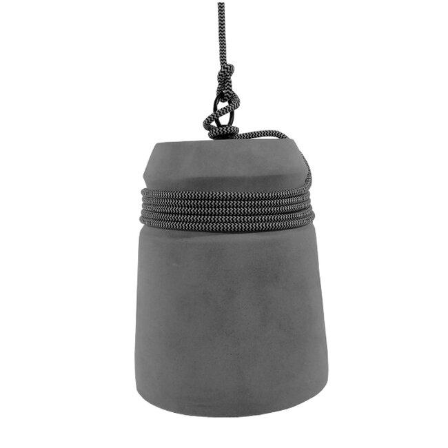 Μοντέρνο Industrial Κρεμαστό Φωτιστικό Οροφής Μονόφωτο Γκρι Τσιμέντο Καμπάνα Φ18  FELINI 01321 - 4