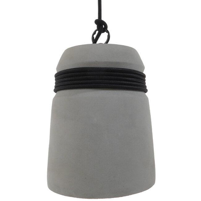 Μοντέρνο Industrial Κρεμαστό Φωτιστικό Οροφής Μονόφωτο Γκρι Τσιμέντο Καμπάνα Φ18  TRIBECA 01320 - 5