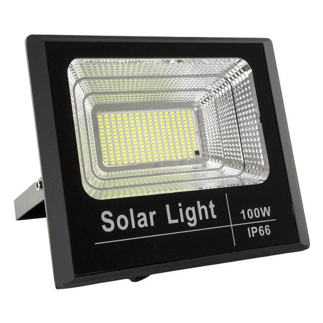 71557 Αυτόνομος Ηλιακός Προβολέας LED SMD 100W 8000lm με Ενσωματωμένη Μπαταρία 15000mAh - Φωτοβολταϊκό Πάνελ με Αισθητήρα Ημέρας-Νύχτας και Ασύρματο Χειριστήριο RF 2.4Ghz Αδιάβροχος IP66 Ψυχρό Λευκό 6000K - 3