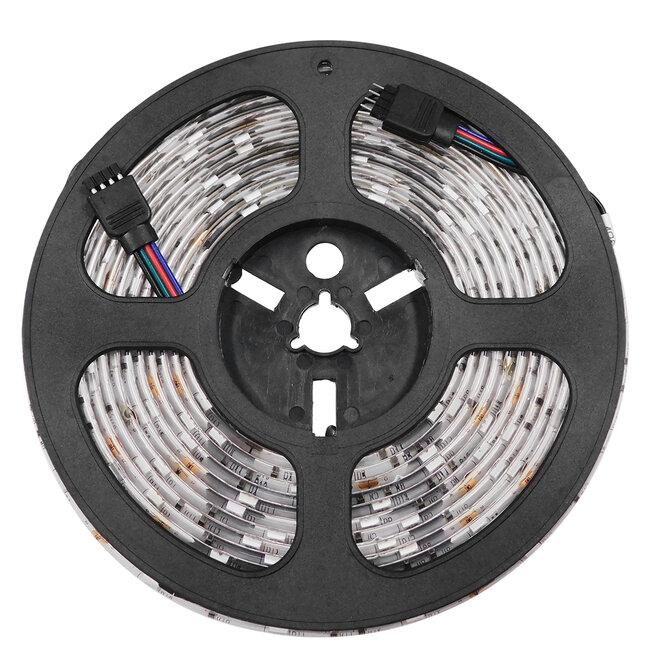 GloboStar® 70119 Ταινία LED SMD 5050 5m 7.2W/m 30LED/m 727 lm/m 120° DC 12V Αδιάβροχη IP65 RGB - 5 Χρόνια Εγγύηση - 4