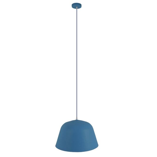 Μοντέρνο Κρεμαστό Φωτιστικό Οροφής Μονόφωτο Μπλε Μεταλλικό Καμπάνα Φ40  DOWNVALE 01286 - 2
