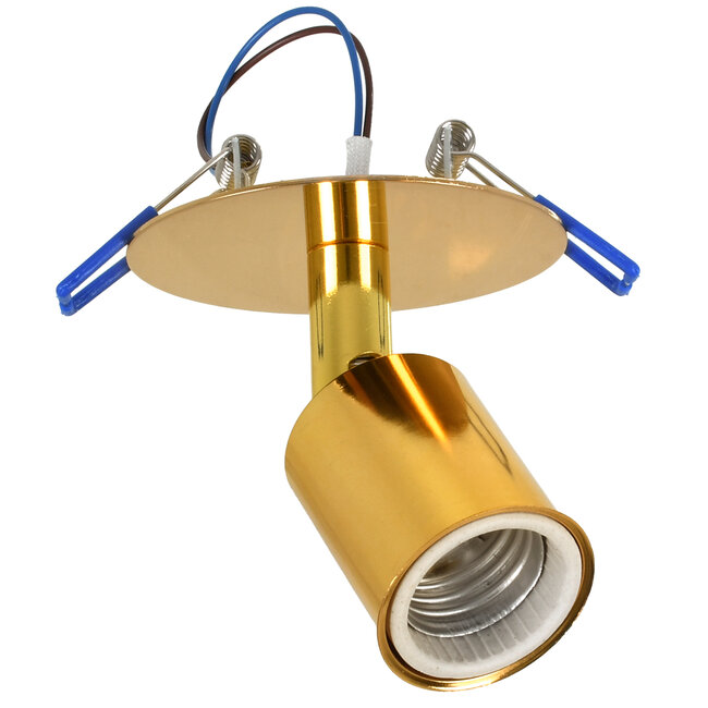 SARA 00851 Μοντέρνο Χωνευτό Φωτιστικό Οροφής / Τοίχου Μονόφωτο 1xE27 Μεταλλικό Χρυσό Φ8 x Υ8.5cm - 2
