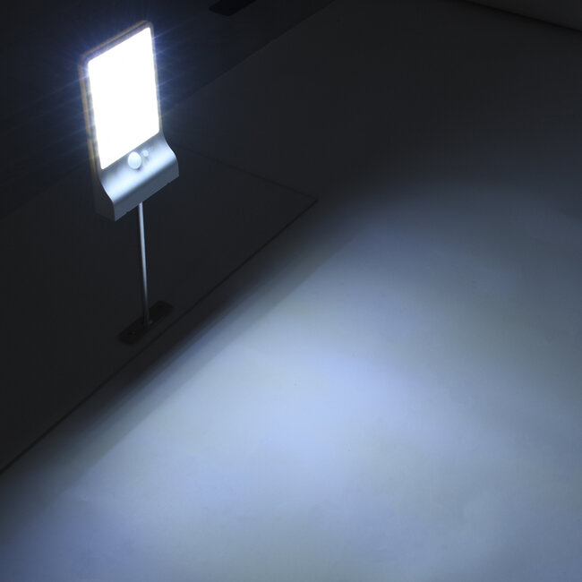71467 Αυτόνομο Ηλιακό Φωτιστικό Τοίχου Λευκό LED SMD 4W 550lm με Ενσωματωμένη Μπαταρία 2200mAh - Φωτοβολταϊκό Πάνελ - Βάση Στήριξης - Αισθητήρα Ημέρας-Νύχτας PIR Αισθητήρα Κίνησης Αδιάβροχο IP65 Ψυχρό Λευκό 6000K - 8