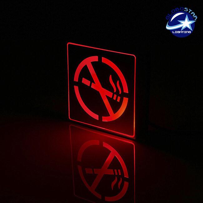 Φωτιστικό LED Σήμανσης Αλουμινίου NO Smoking GloboStar 75500 - 2