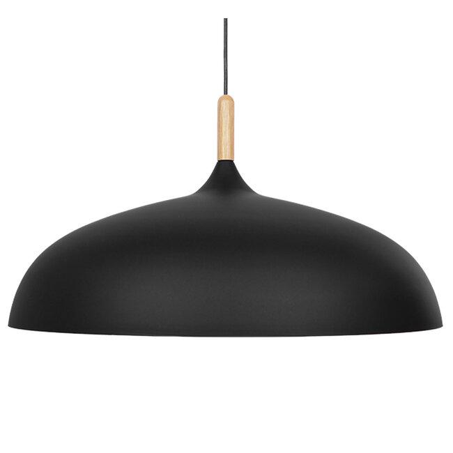 Μοντέρνο Κρεμαστό Φωτιστικό Οροφής Μονόφωτο Μαύρο Μεταλλικό Καμπάνα Φ60  VALLETE BLACK 01259 - 4