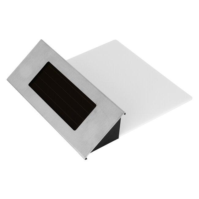 71485 Αυτόνομο Ηλιακό Φωτιστικό LED SMD 1W 100lm με Ενσωματωμένη Μπαταρία 600mAh - Φωτοβολταϊκό Πάνελ με Αισθητήρα Ημέρας-Νύχτας για Αρίθμηση Διεύθυνσης Δρόμου Αδιάβροχο IP65 Ψυχρό Λευκό 6000K - 5
