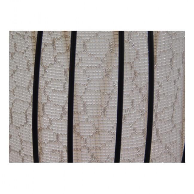 Μοντέρνο Κρεμαστό Φωτιστικό Οροφής Μονόφωτο Μαύρο Μεταλλικό Πλέγμα με Υφασμάτινο Εσωτερικό Καπέλο Φ30  BERNA 01198 - 9