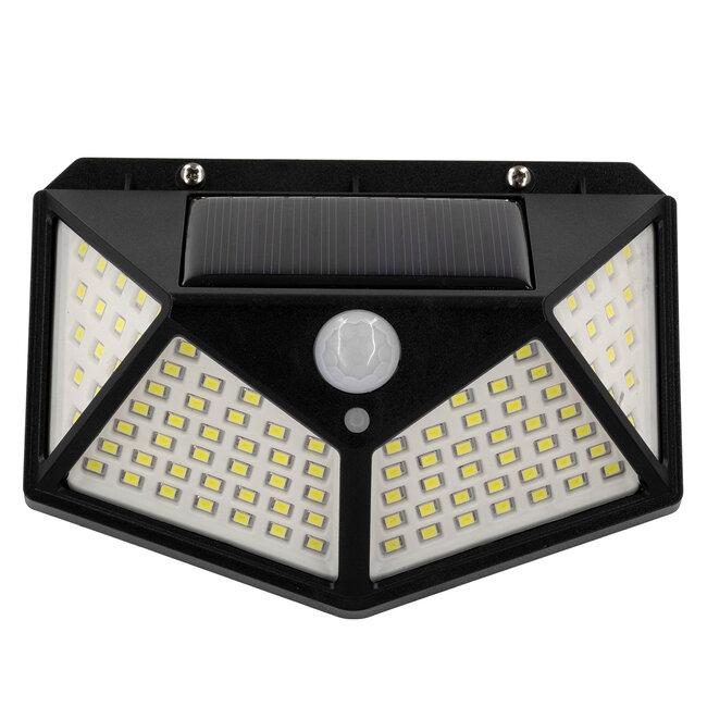 GloboStar® 71499 Αυτόνομο Ηλιακό Φωτιστικό LED SMD 10W 1000lm με Ενσωματωμένη Μπαταρία 1200mAh - Φωτοβολταϊκό Πάνελ με Αισθητήρα Ημέρας-Νύχτας και PIR Αισθητήρα Κίνησης IP65 Ψυχρό Λευκό 6000K - 6