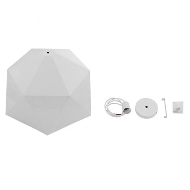 Μοντέρνο Κρεμαστό Φωτιστικό Οροφής Μονόφωτο Λευκό Χρυσό Μεταλλικό Καμπάνα Φ46 GloboStar CHILUM 01378 - 7