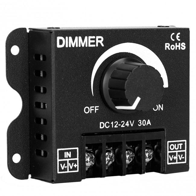 Εξωτερικό Dimmer Knob 12-24 Volt 30 Ampere 360/720 Watt GloboStar 50041