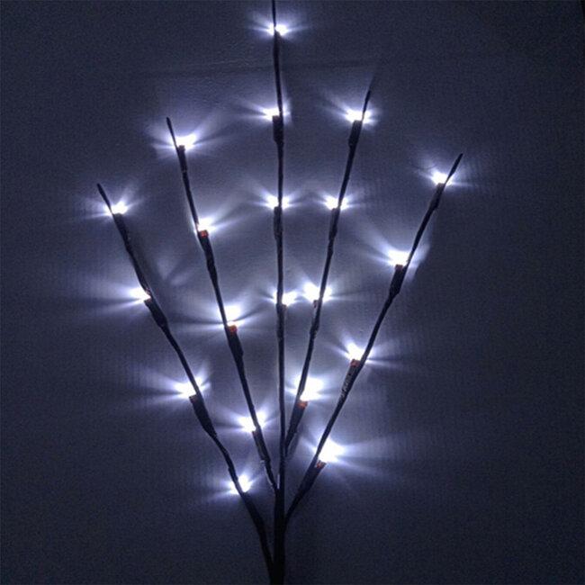 GloboStar® 79800 Διακοσμητικό Φωτιζόμενο Εύκαμπτο Κλαδί με 20 LED 3W 300 lm Μπαταρίας Ψυχρό Λευκό 6000k Φ62.5 x Υ70cm - 7